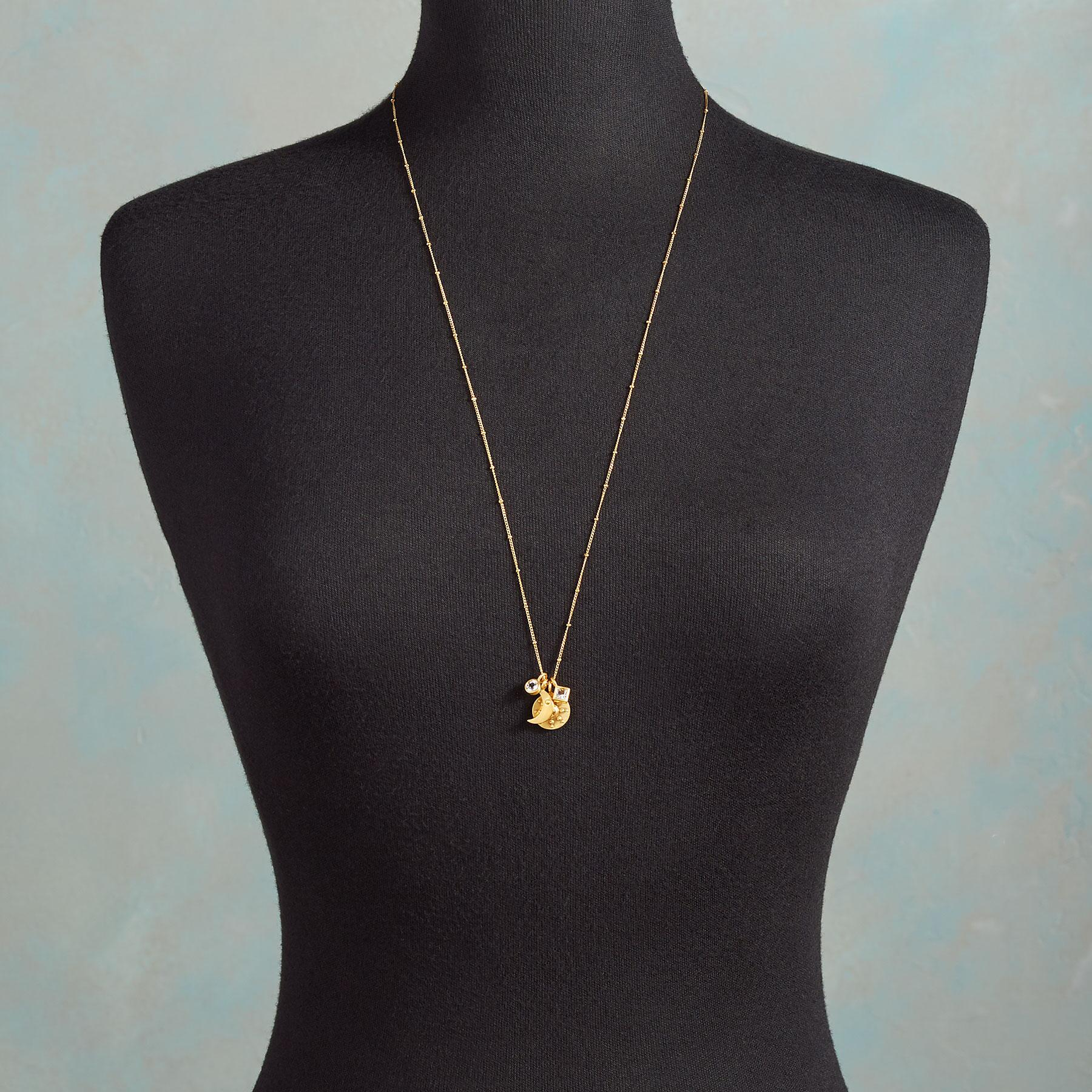 GOLD YOU'RE MY WORLD NECKLACE: View 3