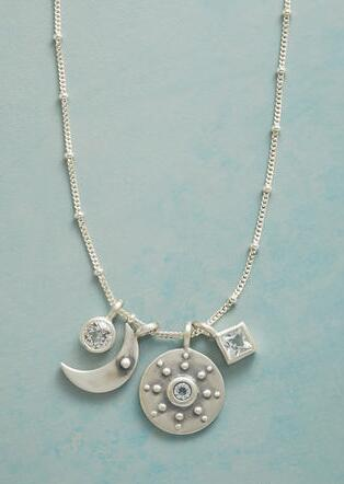 STERLING SILVER YOU'RE MY WORLD NECKLACE