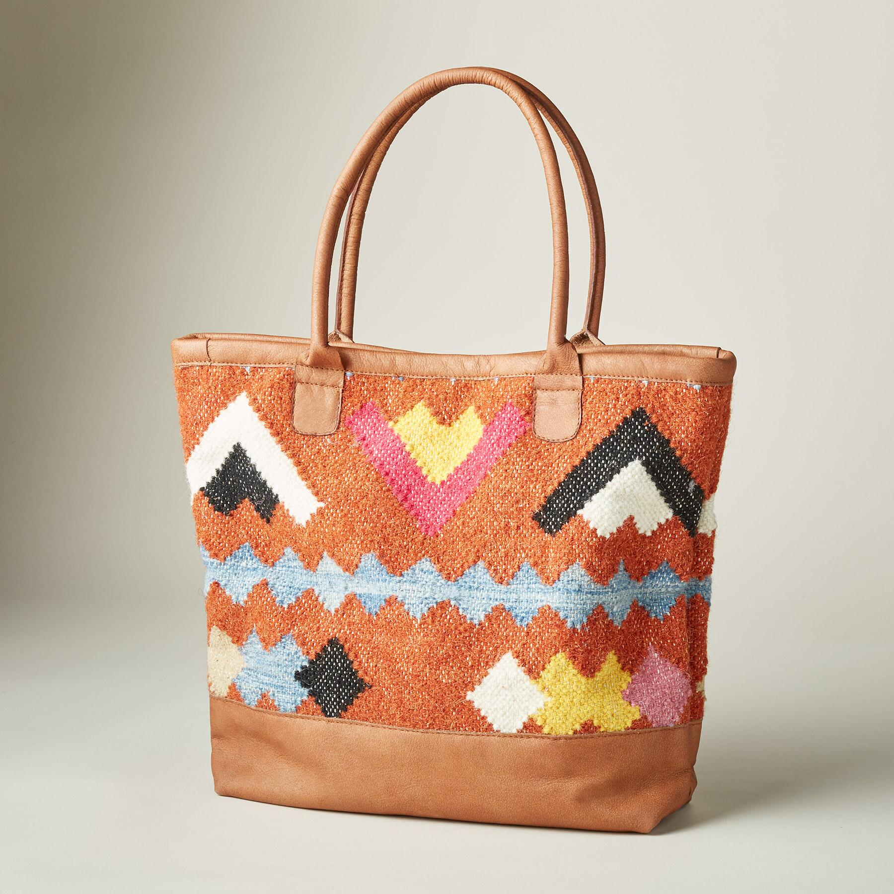 BRENNA WOVEN TOTE: View 1