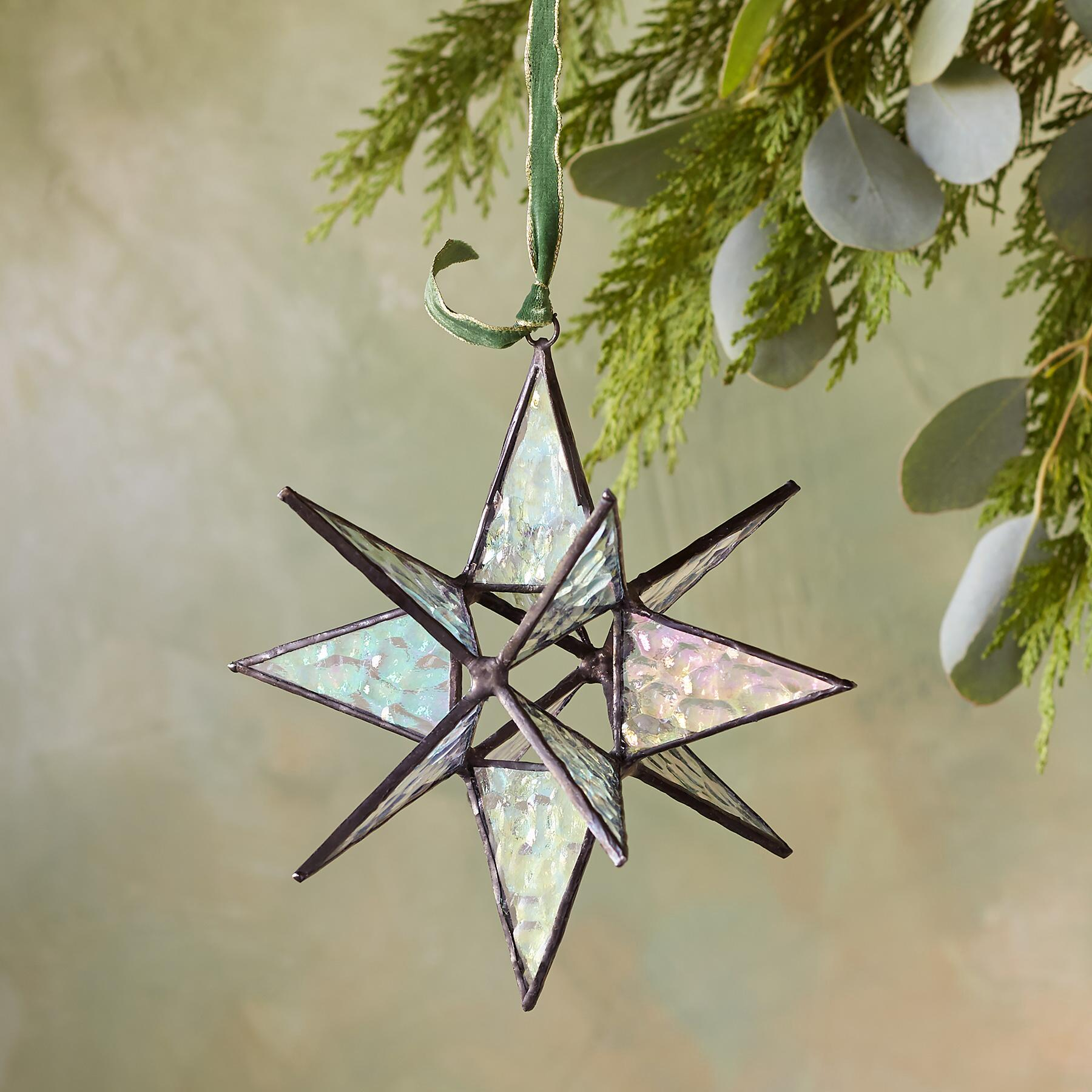 GLASS STAR ORN - LG: View 2