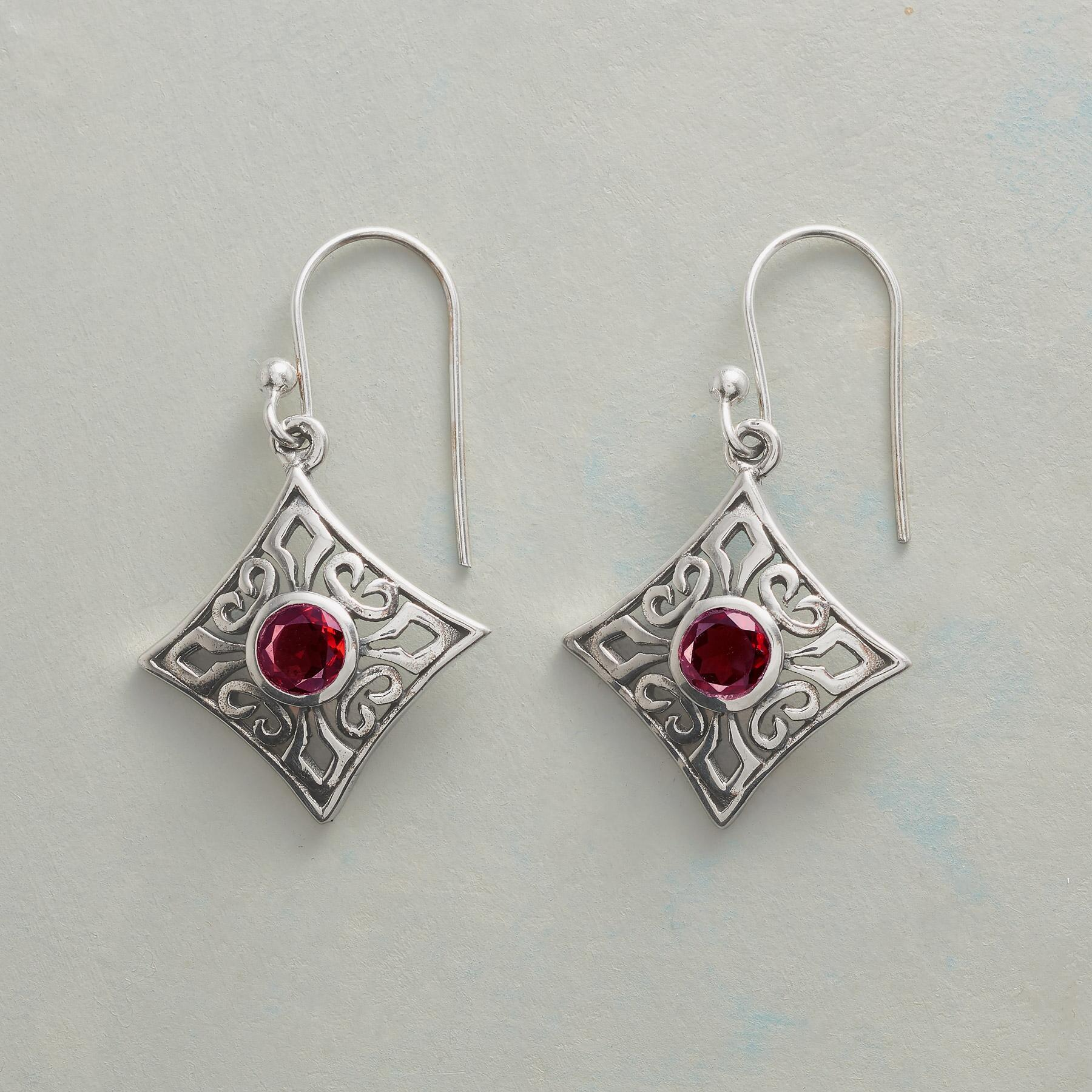 RED ROCOCO EARRINGS: View 1