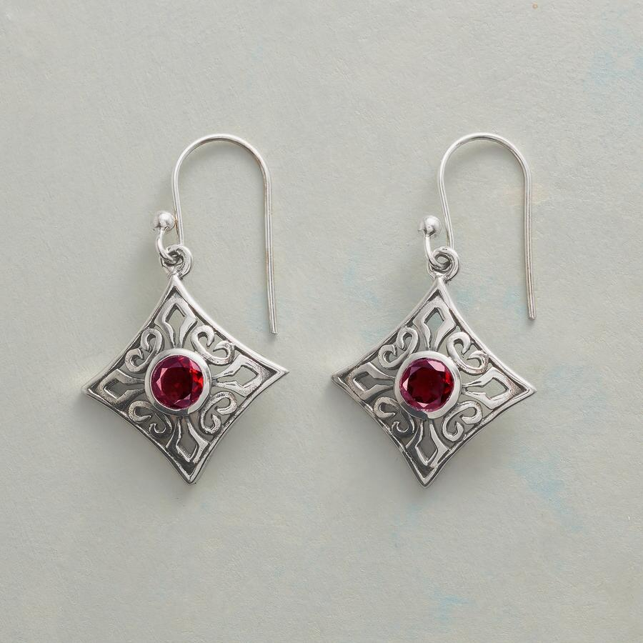 RED ROCOCO EARRINGS