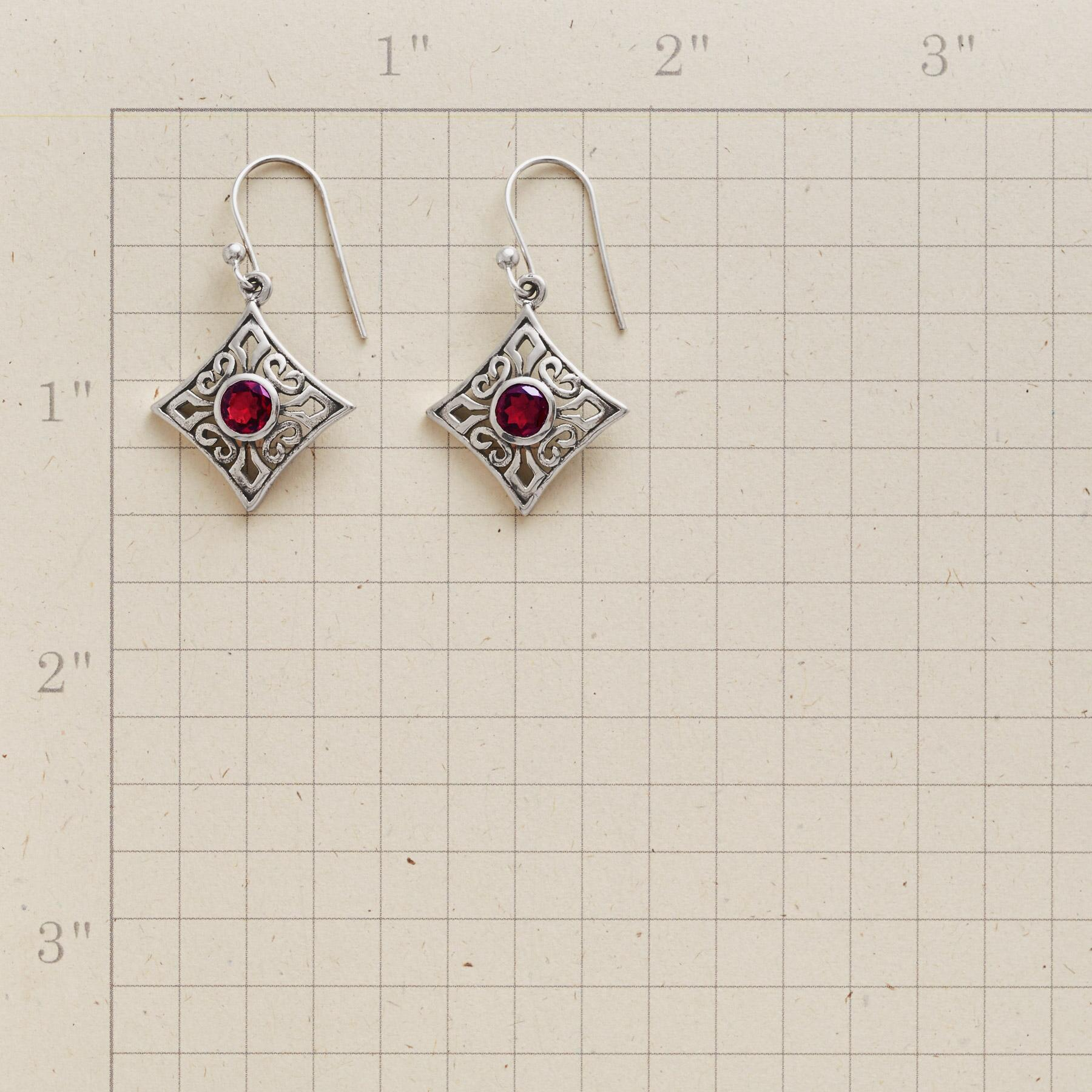RED ROCOCO EARRINGS: View 2
