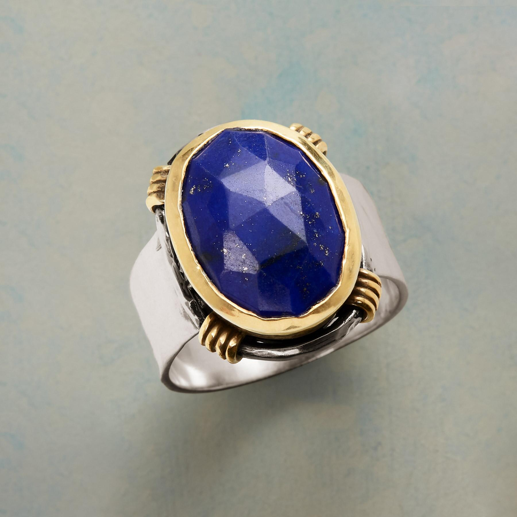 SILVERSMITH LAPIS RING: View 1