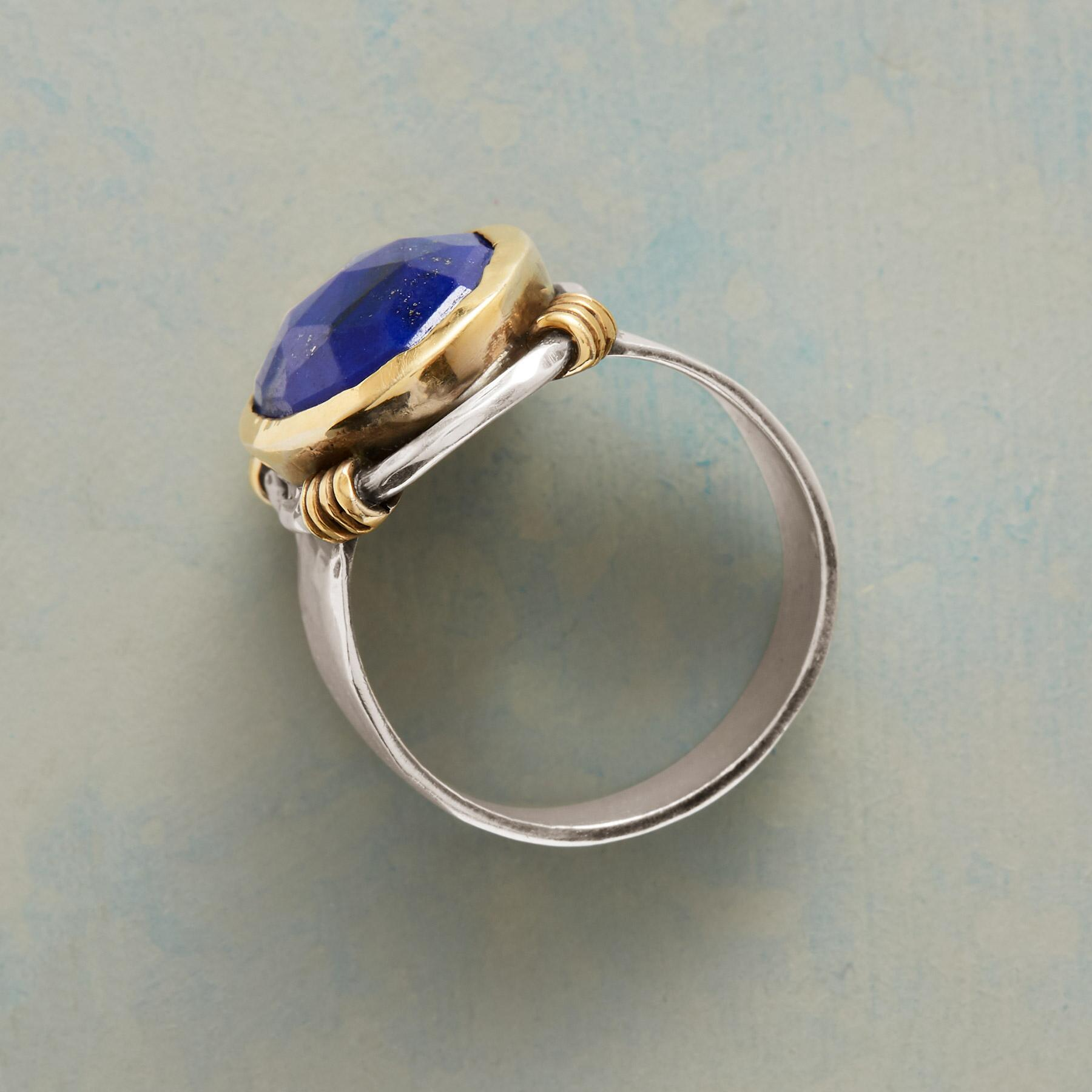 SILVERSMITH LAPIS RING: View 2