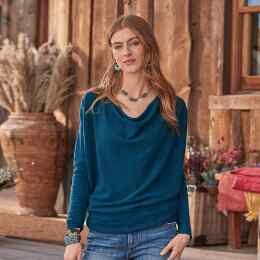 SIMPLE TRUTHS CASHMERE SWEATER - PETITES