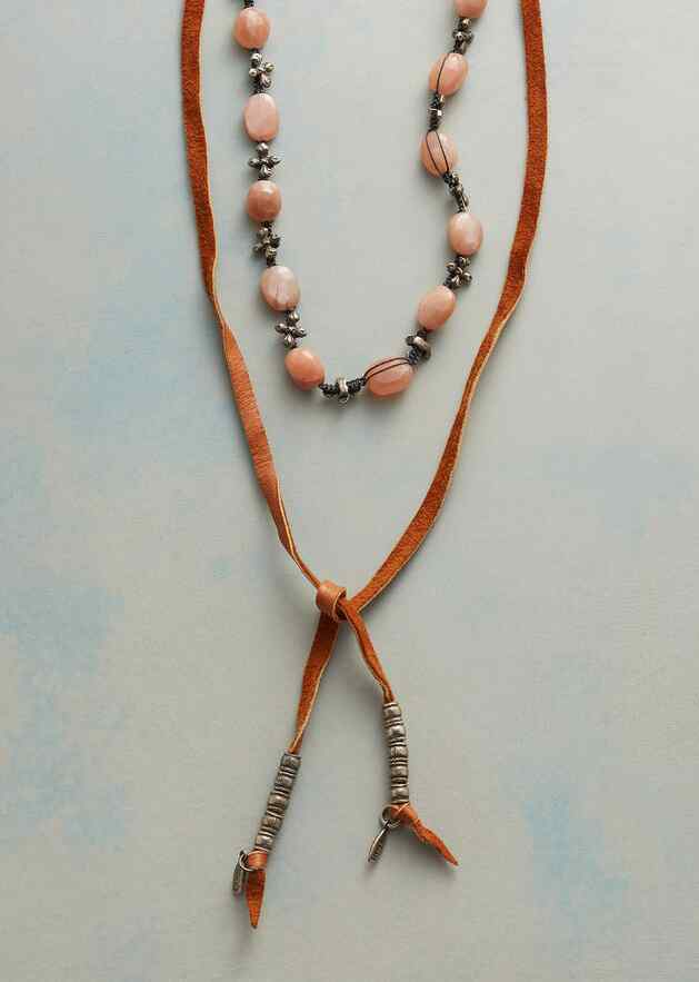 SPRING MOON LARIAT NECKLACE