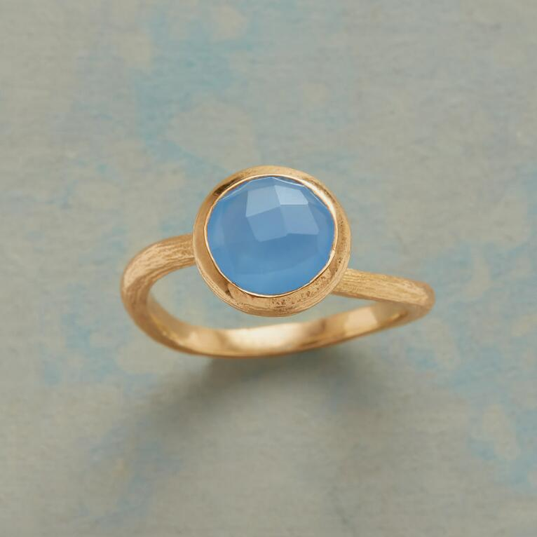 BLUE SWERVE RING
