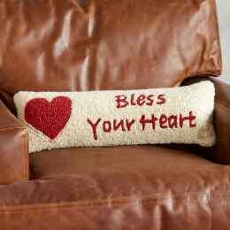 BLESS YOUR HEART BOLSTER PILLOW
