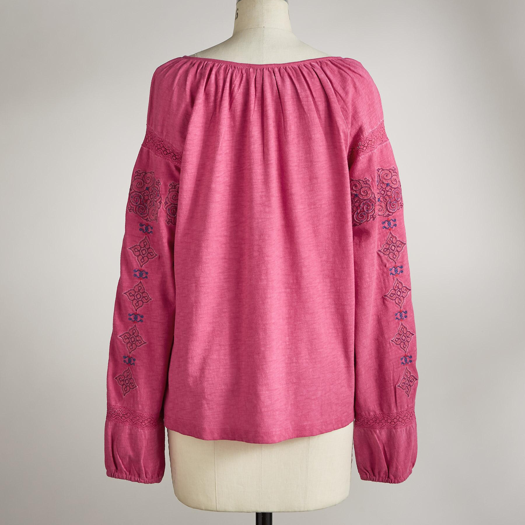 BLOSSOMS EMBROIDERED TOP: View 4