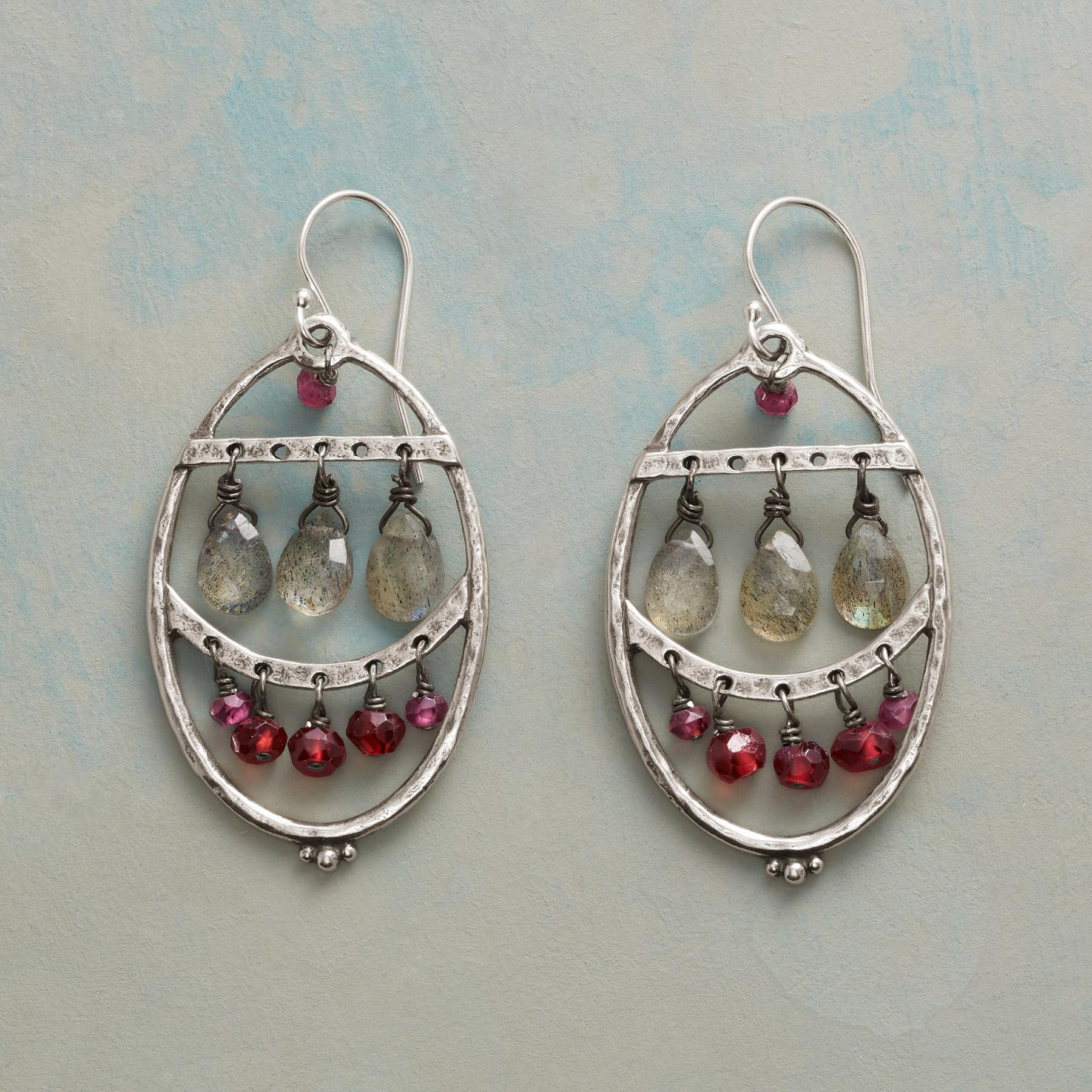 GLACIAL FIRE EARRINGS: View 1