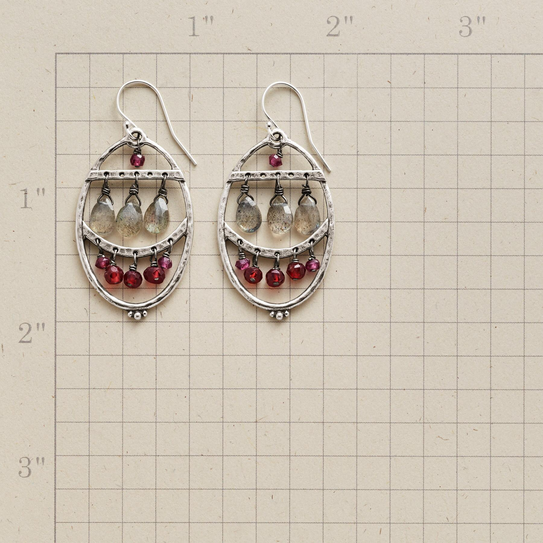 GLACIAL FIRE EARRINGS: View 2