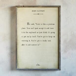 SB WORDS...WISDOM BY JOHN LENNON