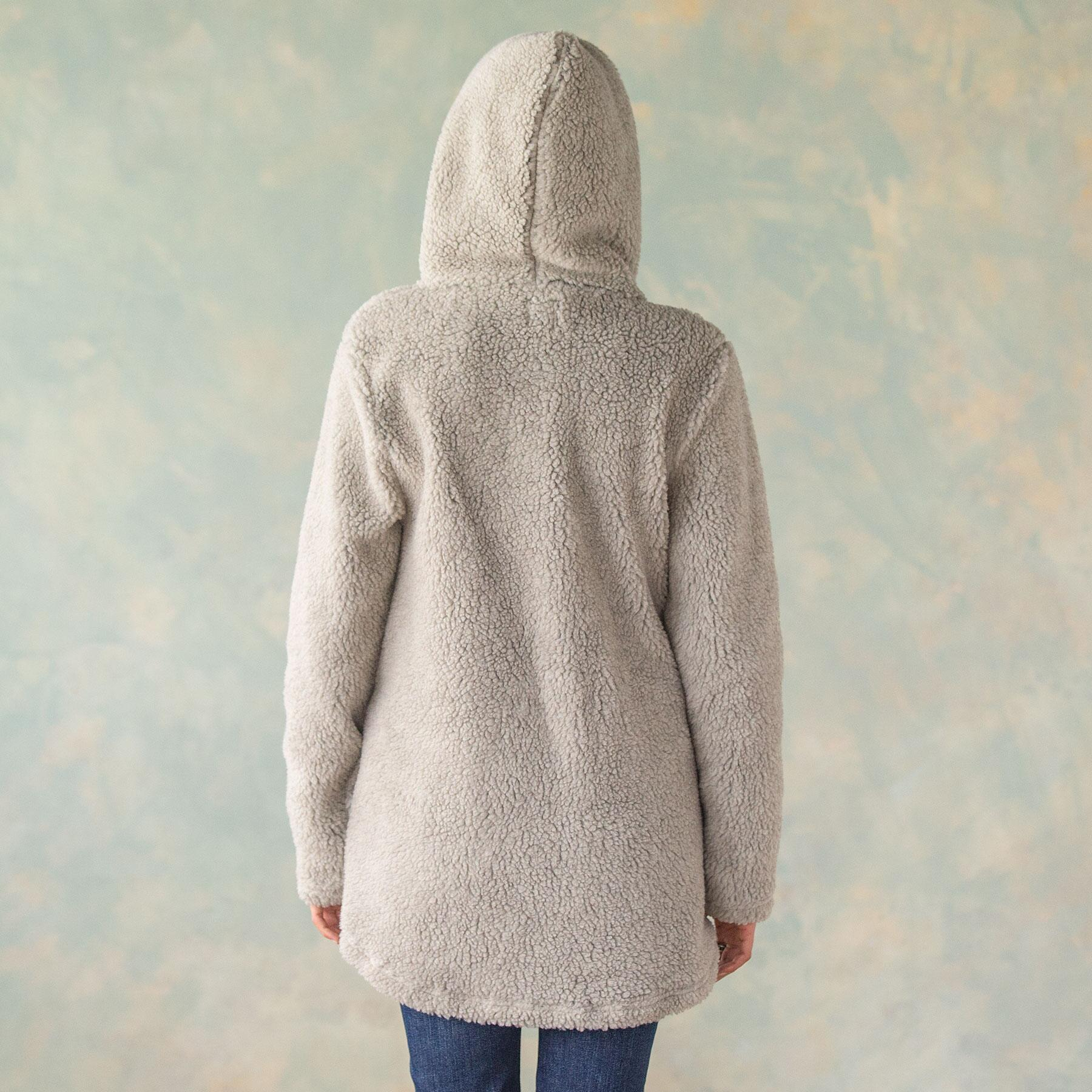 LUXE PILE HOODED JACKET: View 4