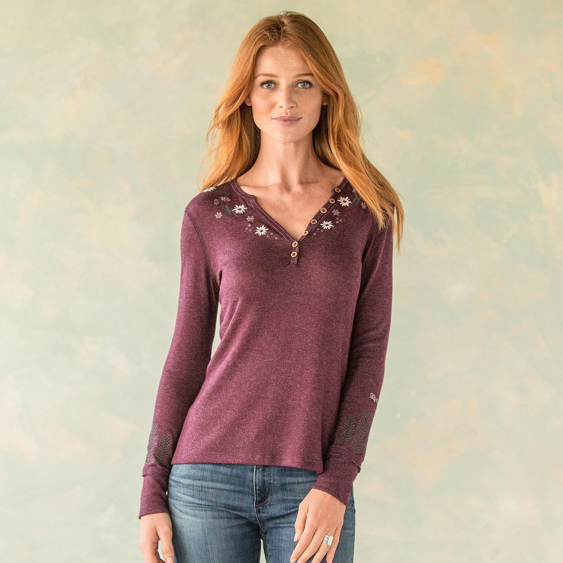 WONDERLAND RELAXED FIT HENLEY: View 1