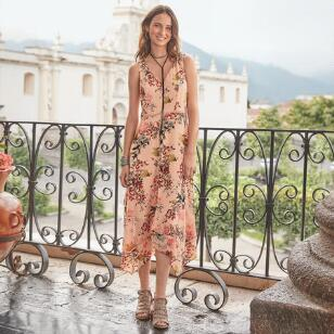 AWASH IN FLORALS DRESS