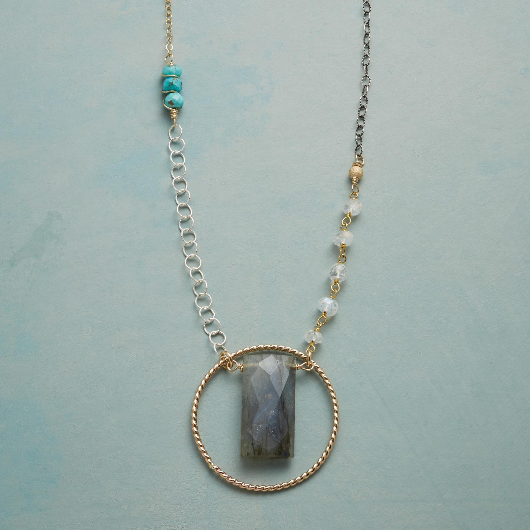 LABRADORITE LASSO NECKLACE: View 1
