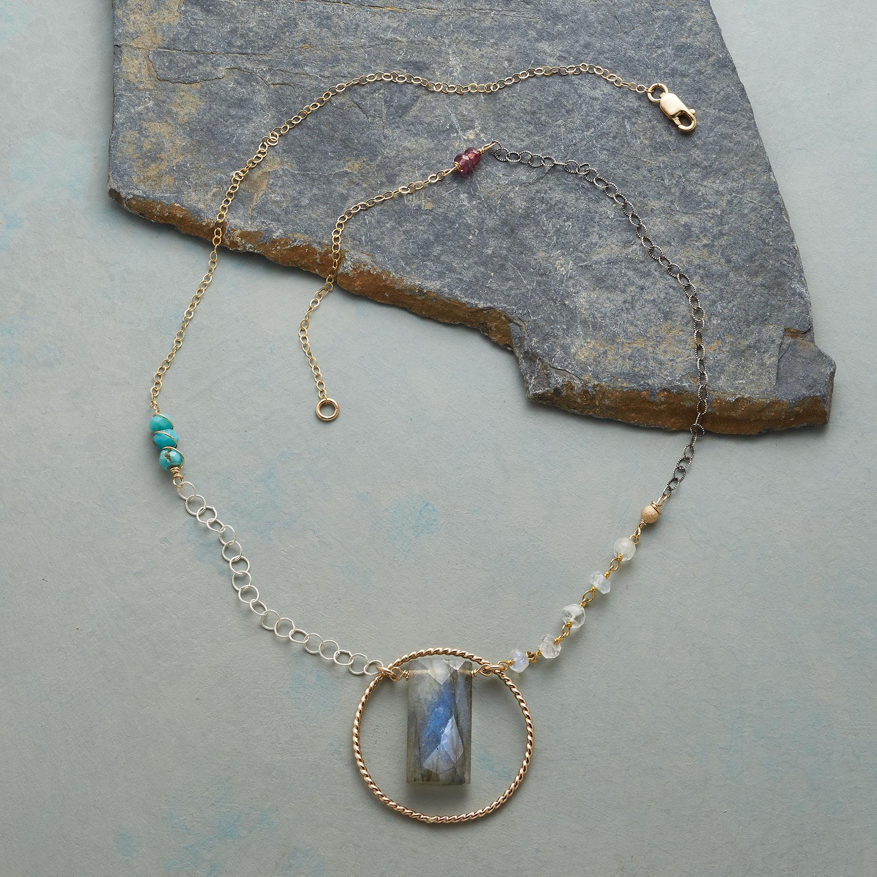 LABRADORITE LASSO NECKLACE: View 2