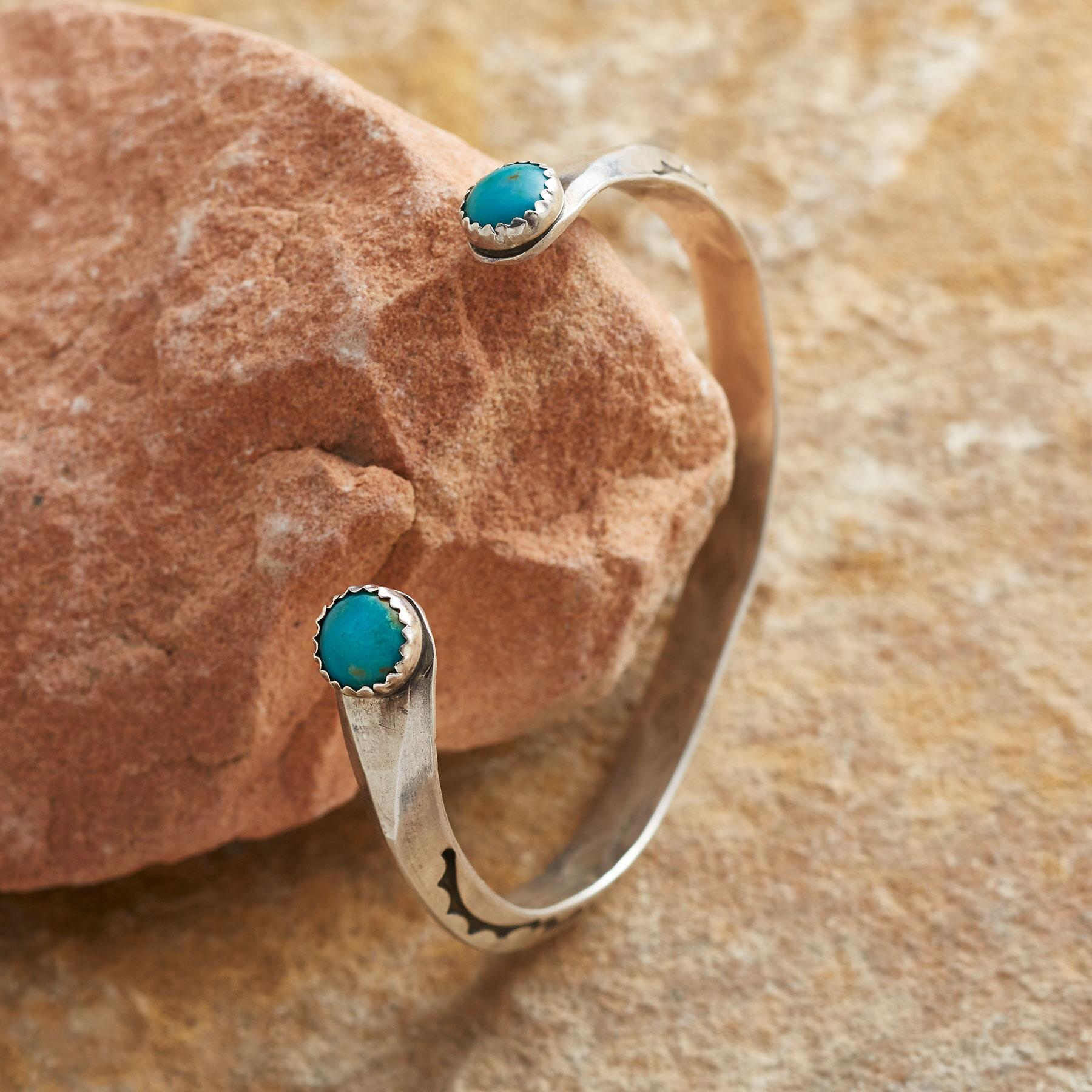 DEUCE TURQUOISE CUFF: View 1