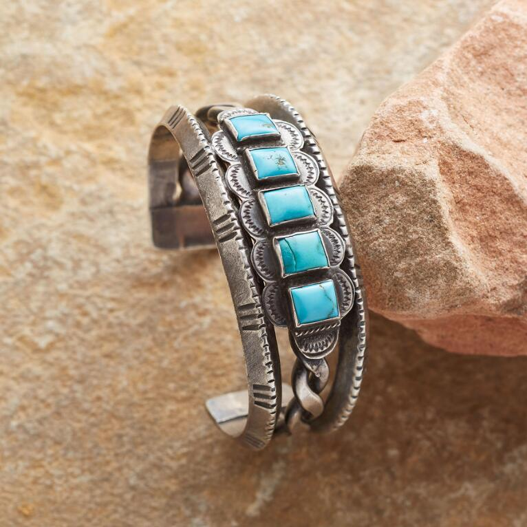 1940S TURQUOISE WINDOWS CUFF