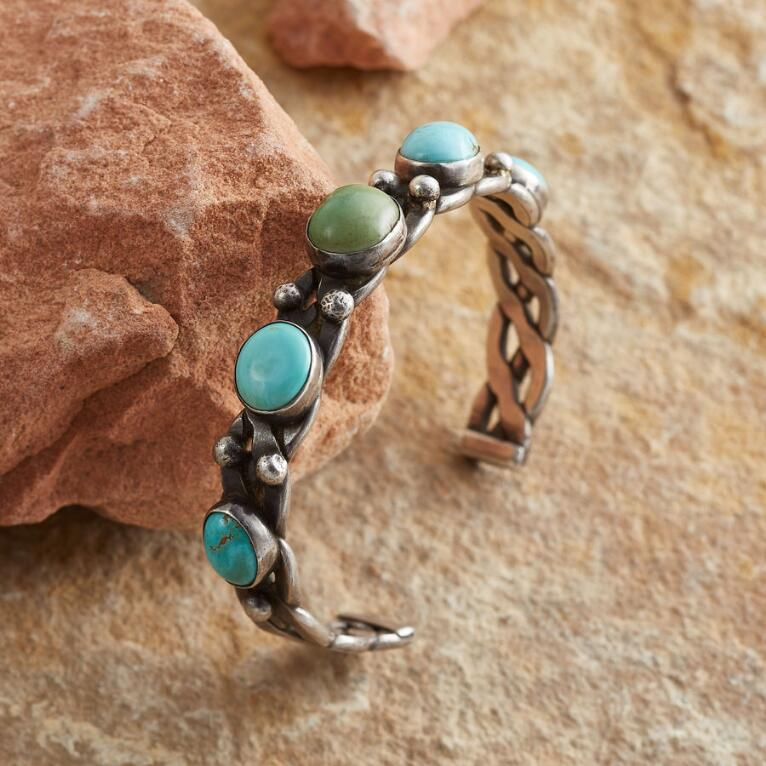 1930S TURQUOISE DOMES CUFF
