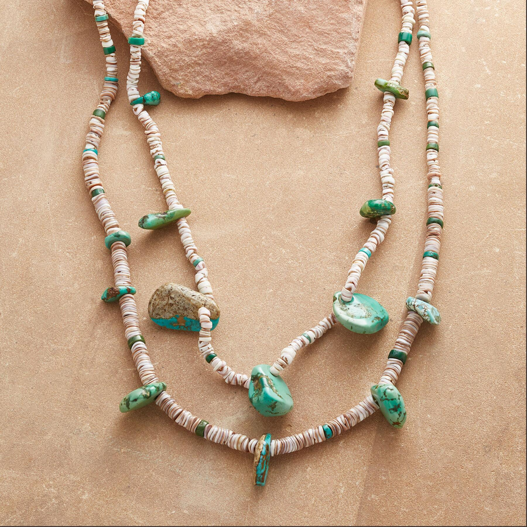 1910 CERILLOS TURQUOISE NECKLACE: View 1