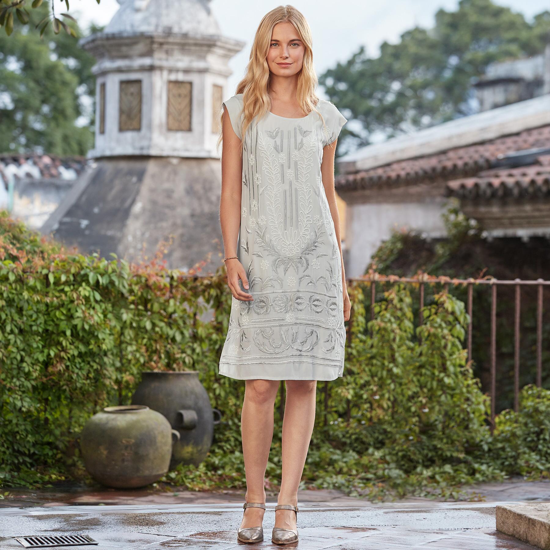 BLANCHETTE SHIFT DRESS: View 1