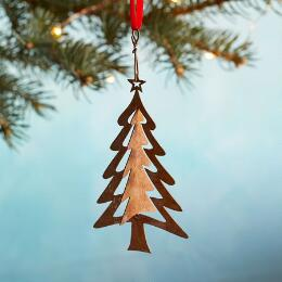 LAYERS OF TREES ORNAMENT
