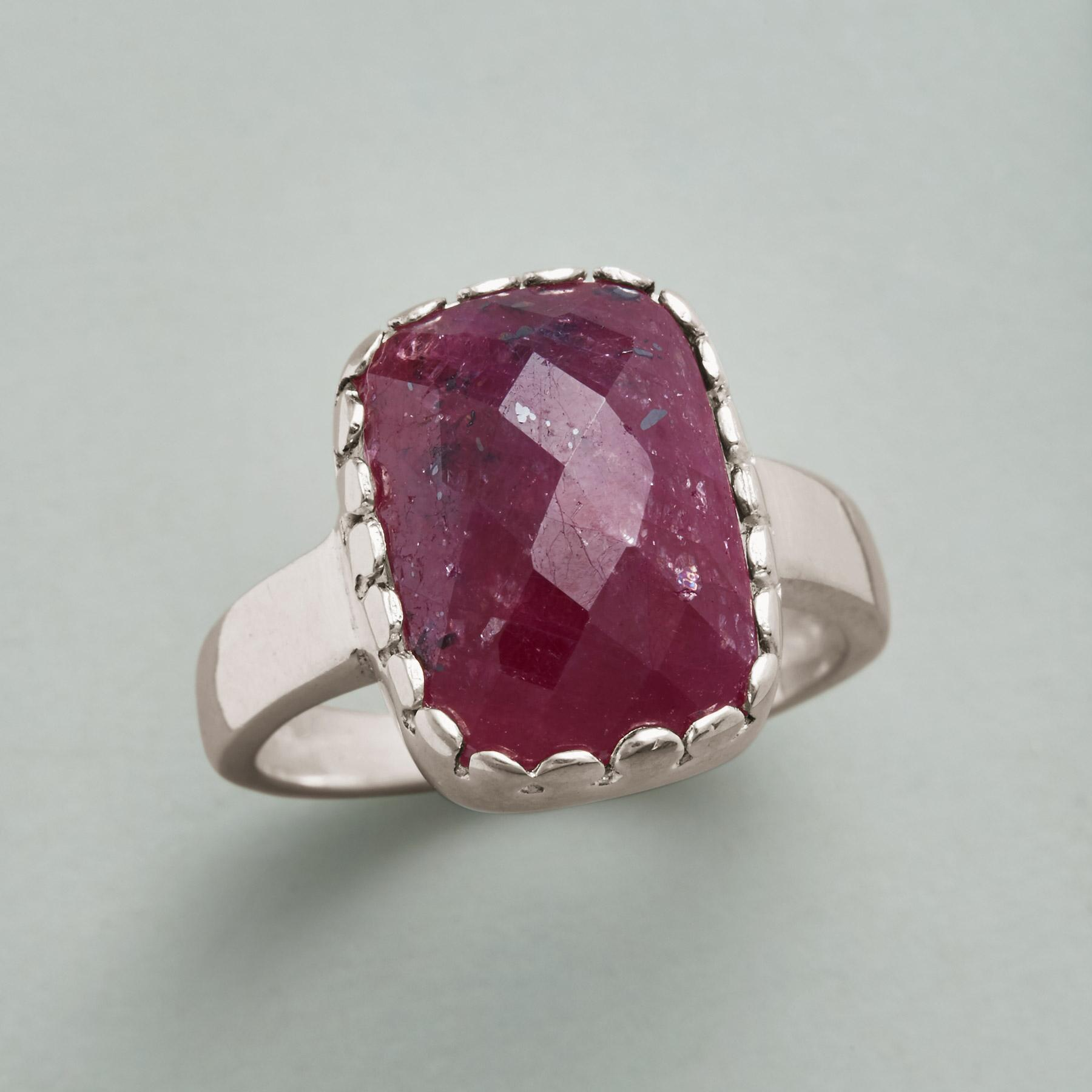 FIRESIDE RUBY RING: View 1