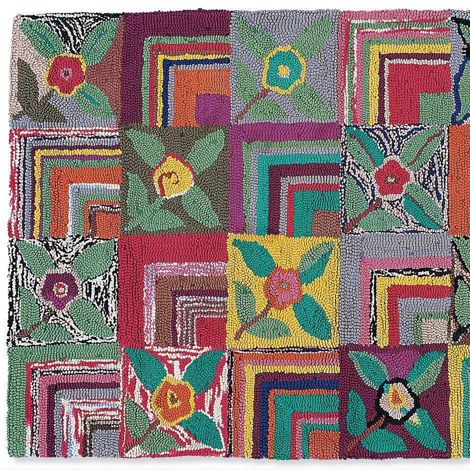 GYPSY ROSE HOOKED RUG, LARGE: View 1