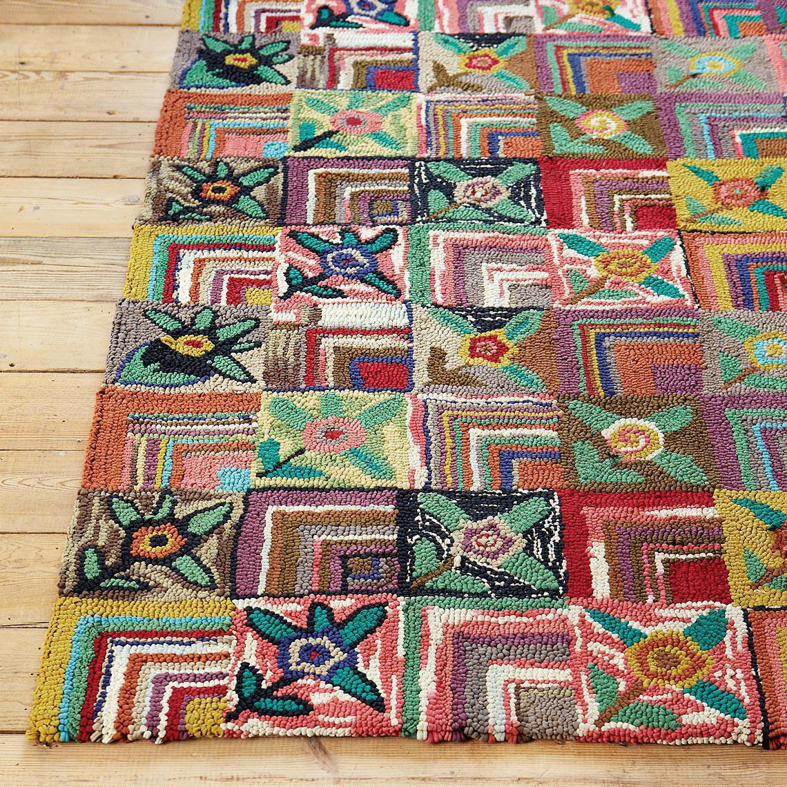 GYPSY ROSE HOOKED RUG, LARGE: View 2