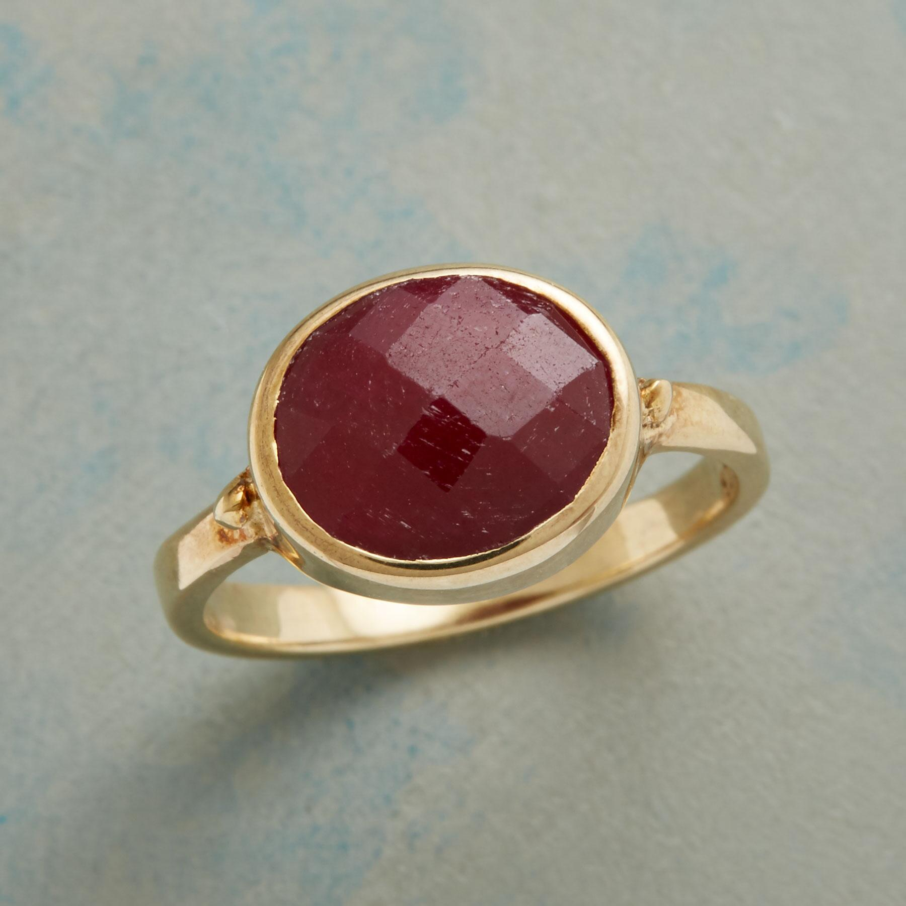 SIZZLE RUBY RING: View 1