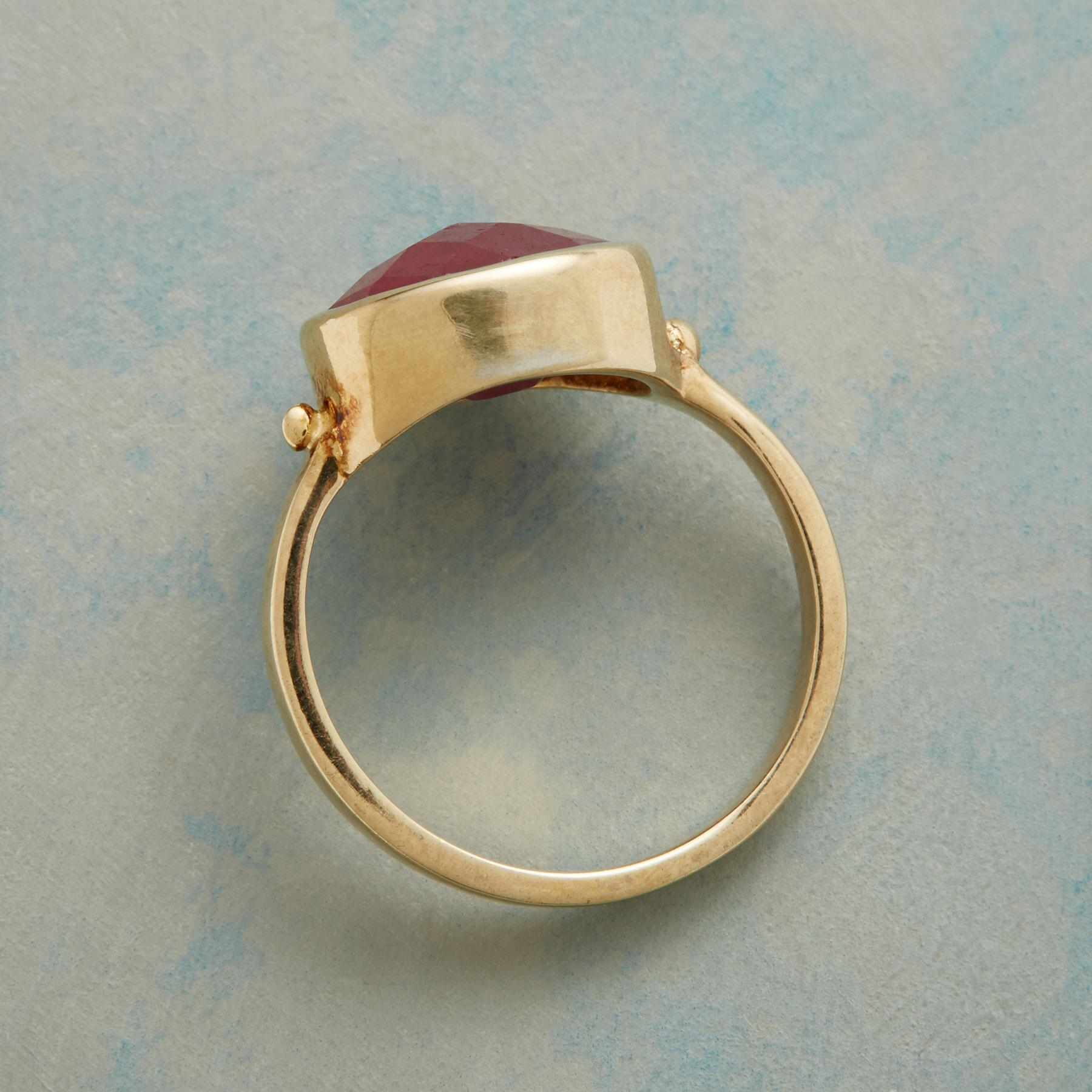 SIZZLE RUBY RING: View 2