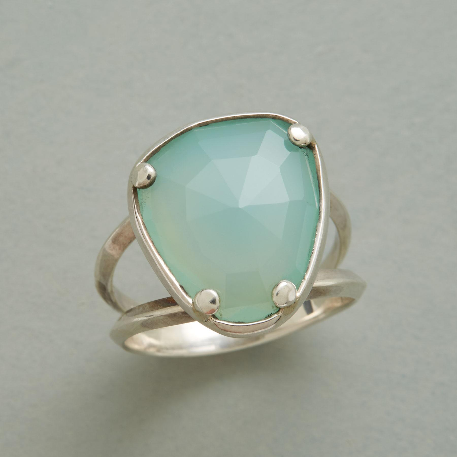 CHALCEDONY STEPSTONE RING: View 1