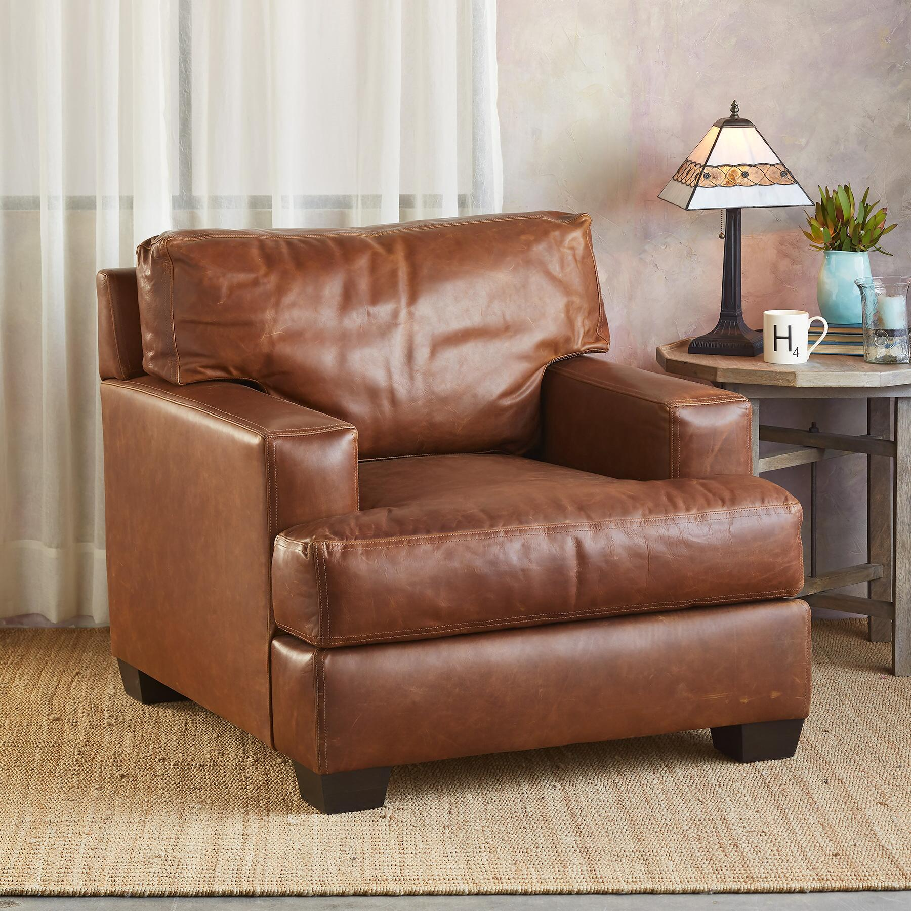 CORMAC LEATHER CLUB CHAIR: View 1