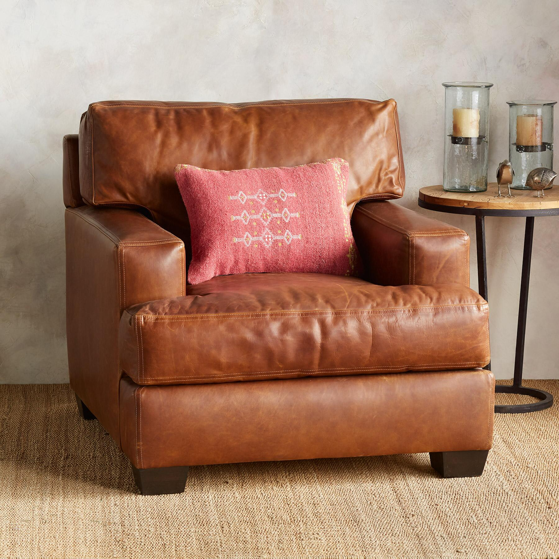 CORMAC LEATHER CLUB CHAIR: View 2