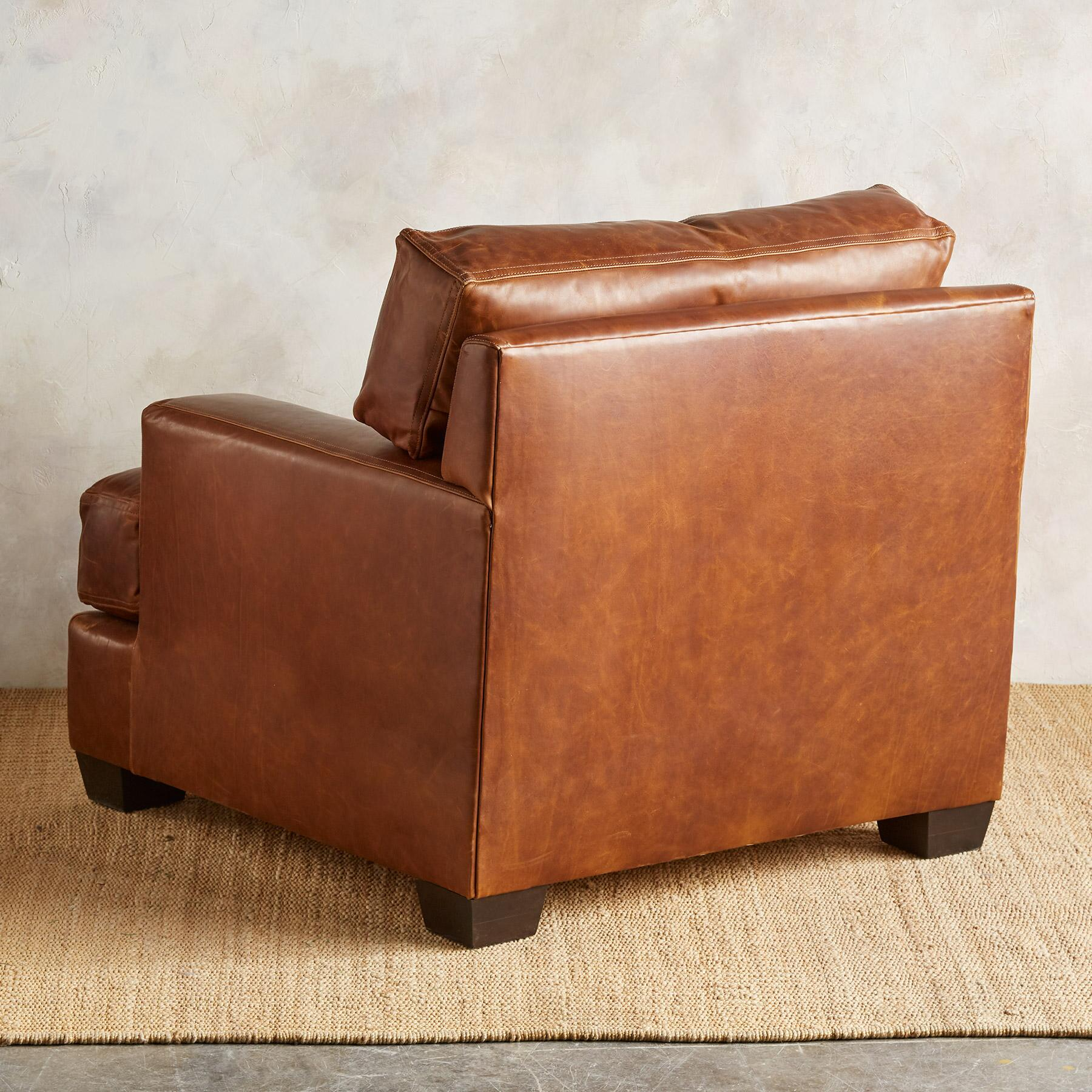 CORMAC LEATHER CLUB CHAIR: View 4