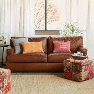 CORMAC LEATHER SOFA