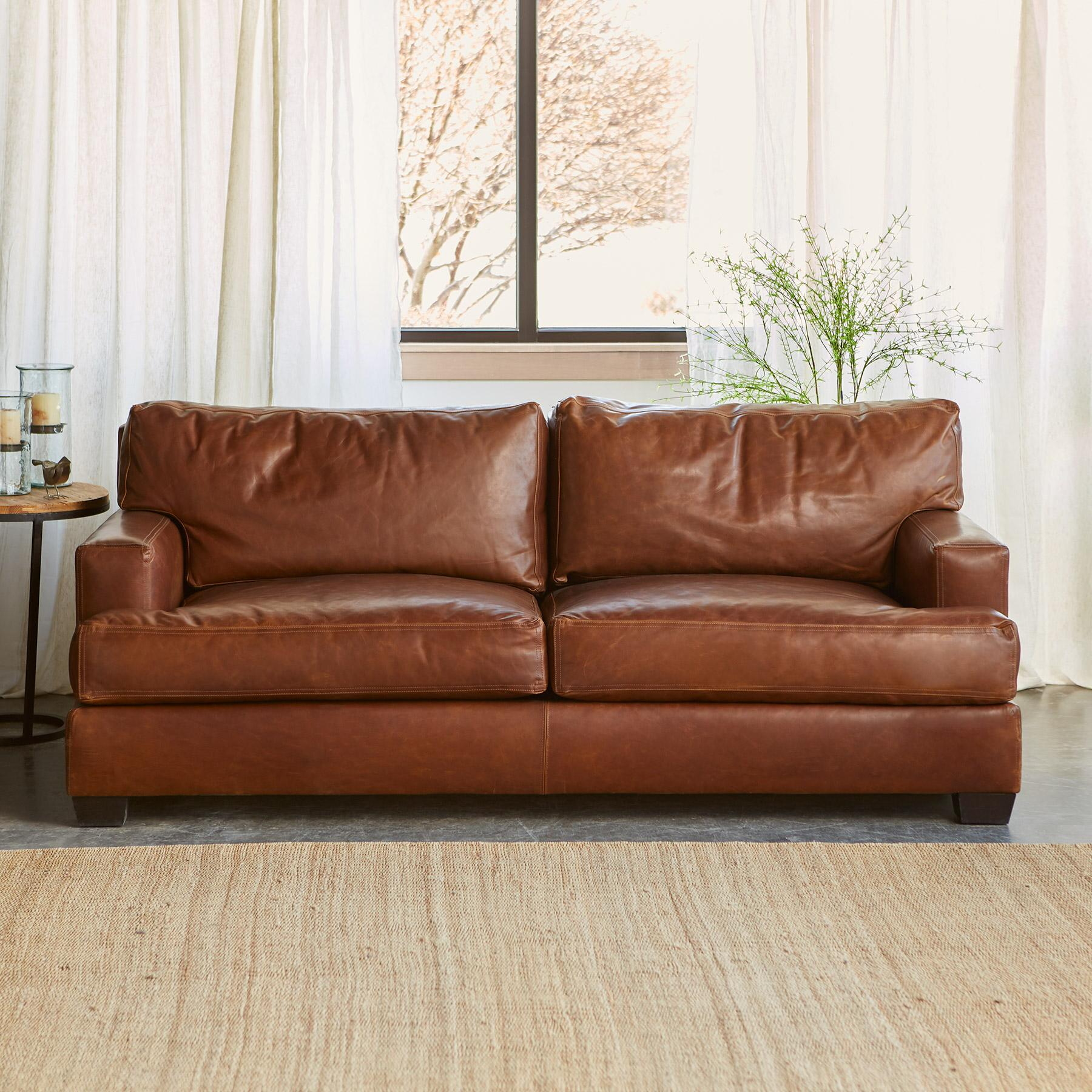 CORMAC LEATHER SOFA: View 2