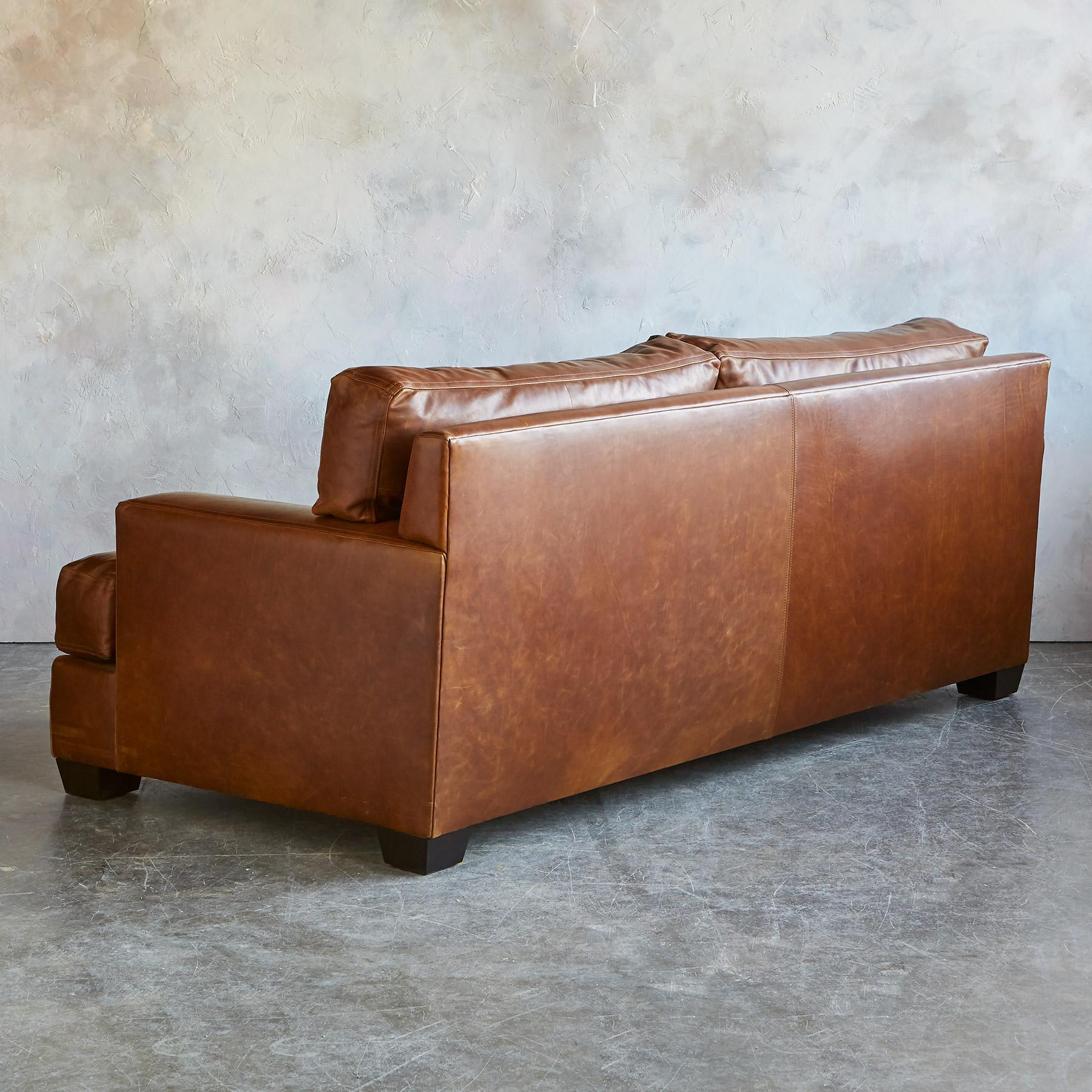 CORMAC LEATHER SOFA: View 3
