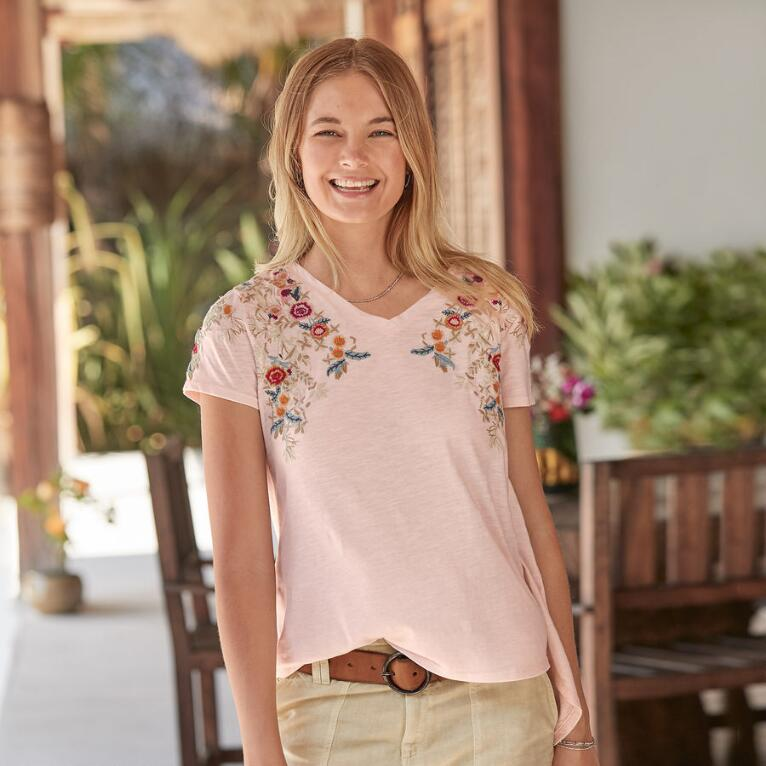 CASCADING FLORALS TOP