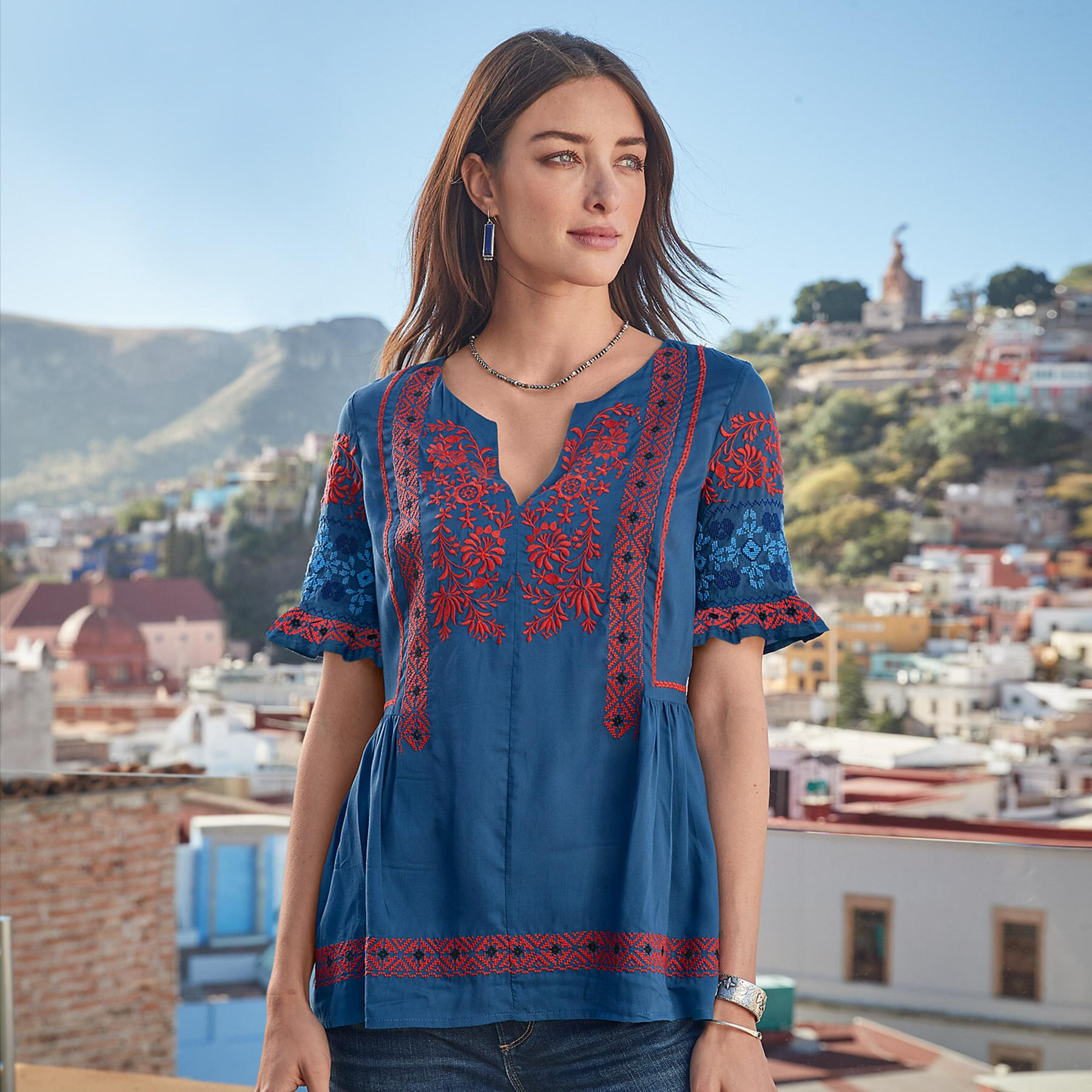 FABLE EMBROIDERED TOP: View 1