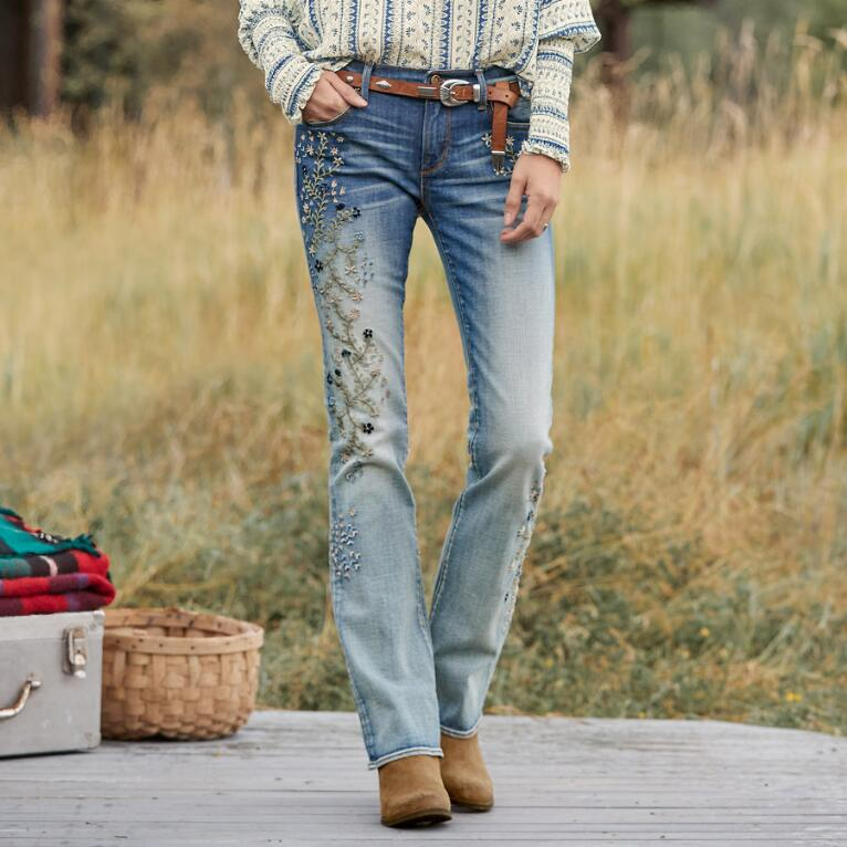 KELLY BLUEBERRY BLOSSOM JEANS