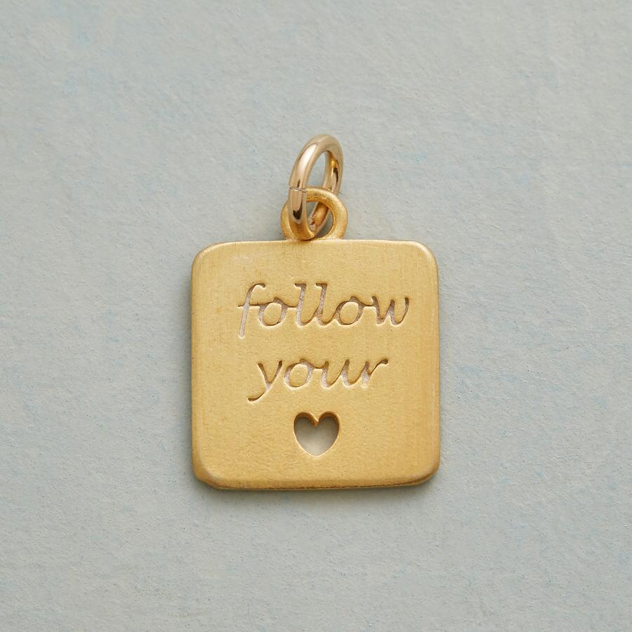 GOLD FOLLOW YOUR HEART CHARM