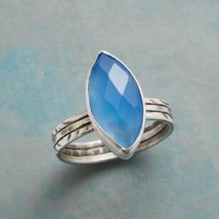 BLUE LIGHTENING RING
