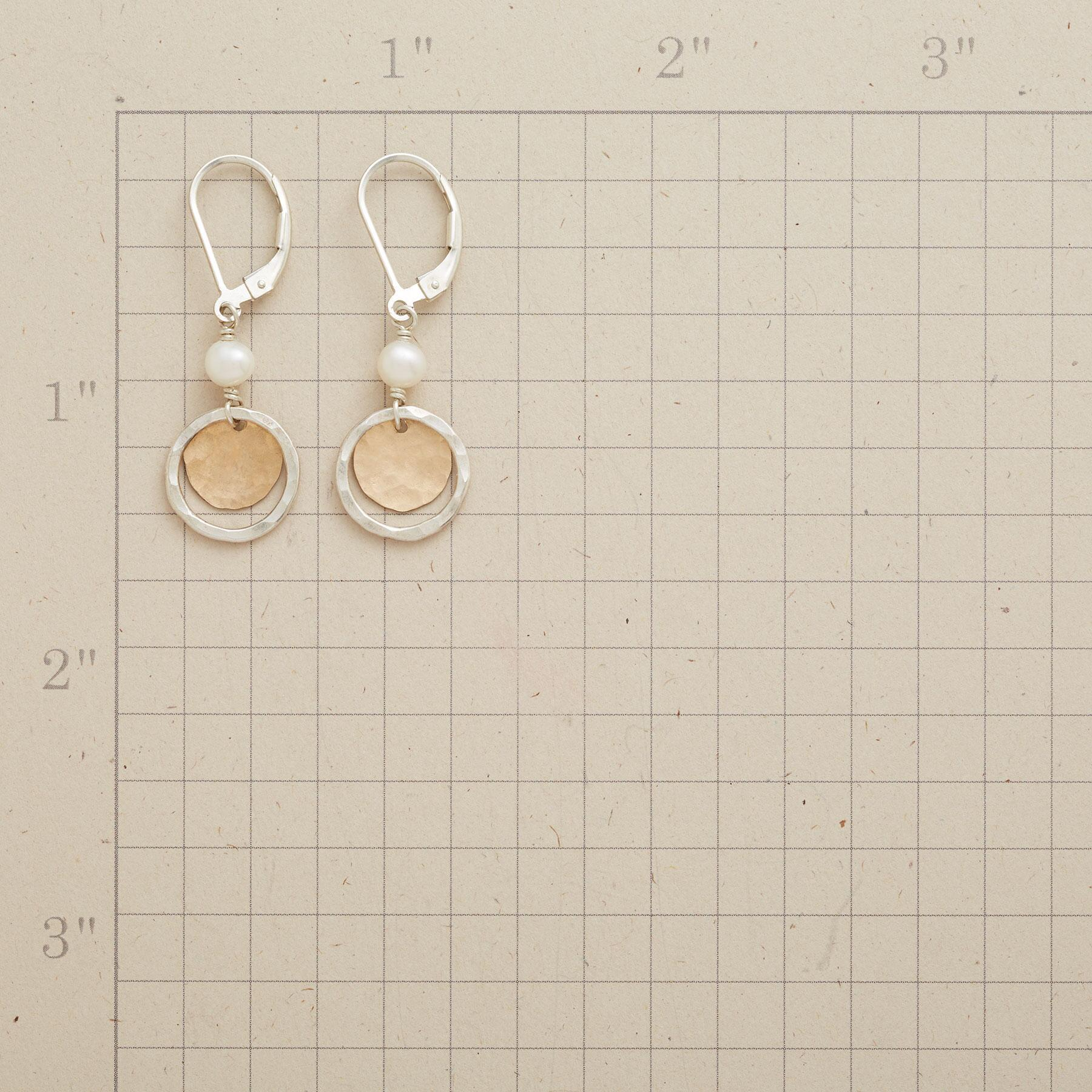 SILVER HALO EARRINGS: View 2