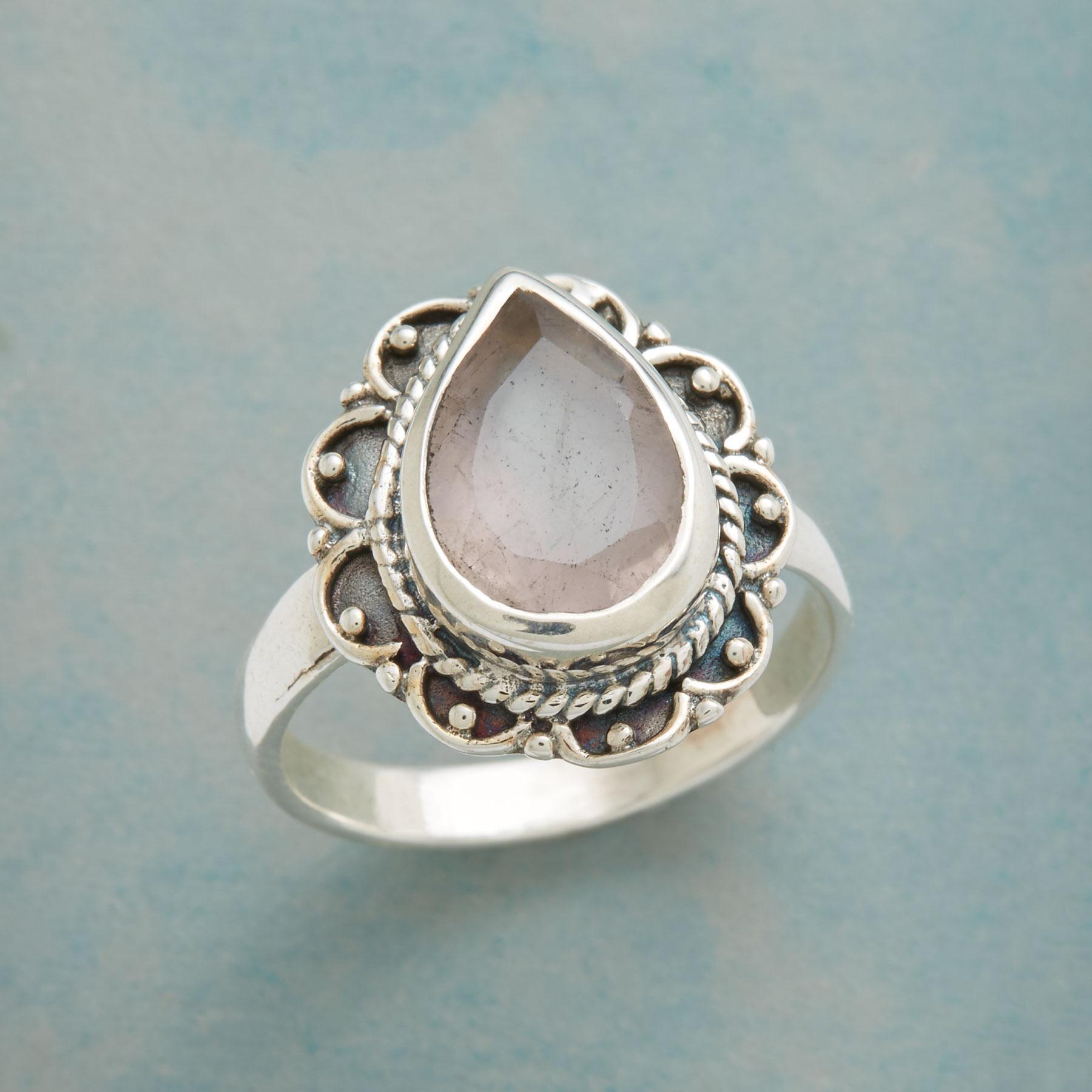 BLUSHING TEARDROP RING: View 1