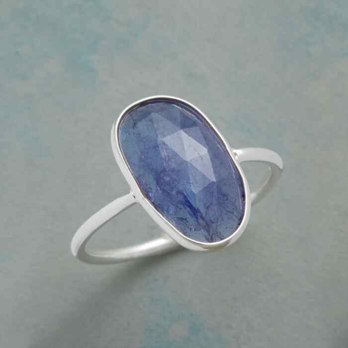 TANZANITE SLICE RING