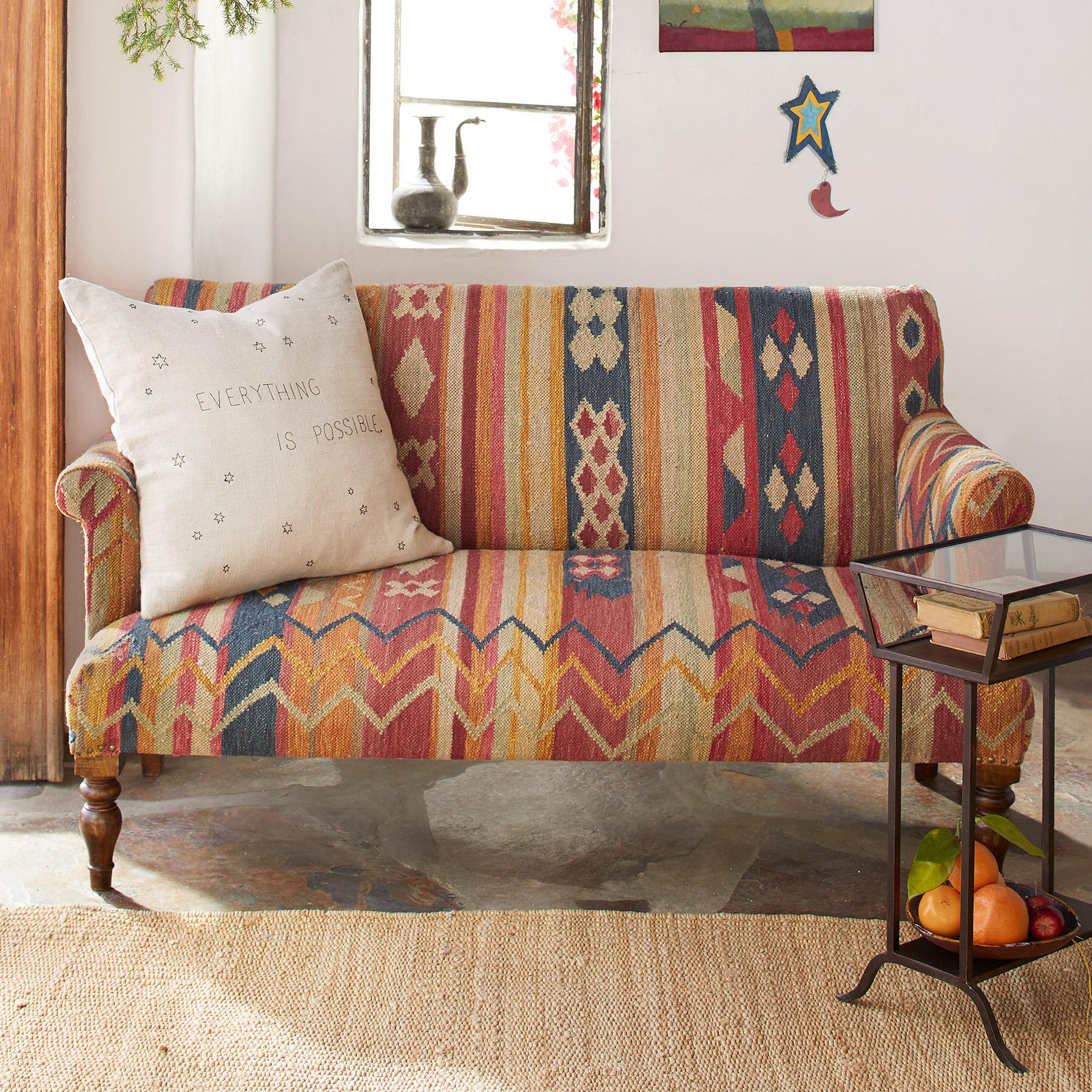 CABIN CREEK KILIM LOVESEAT: View 1