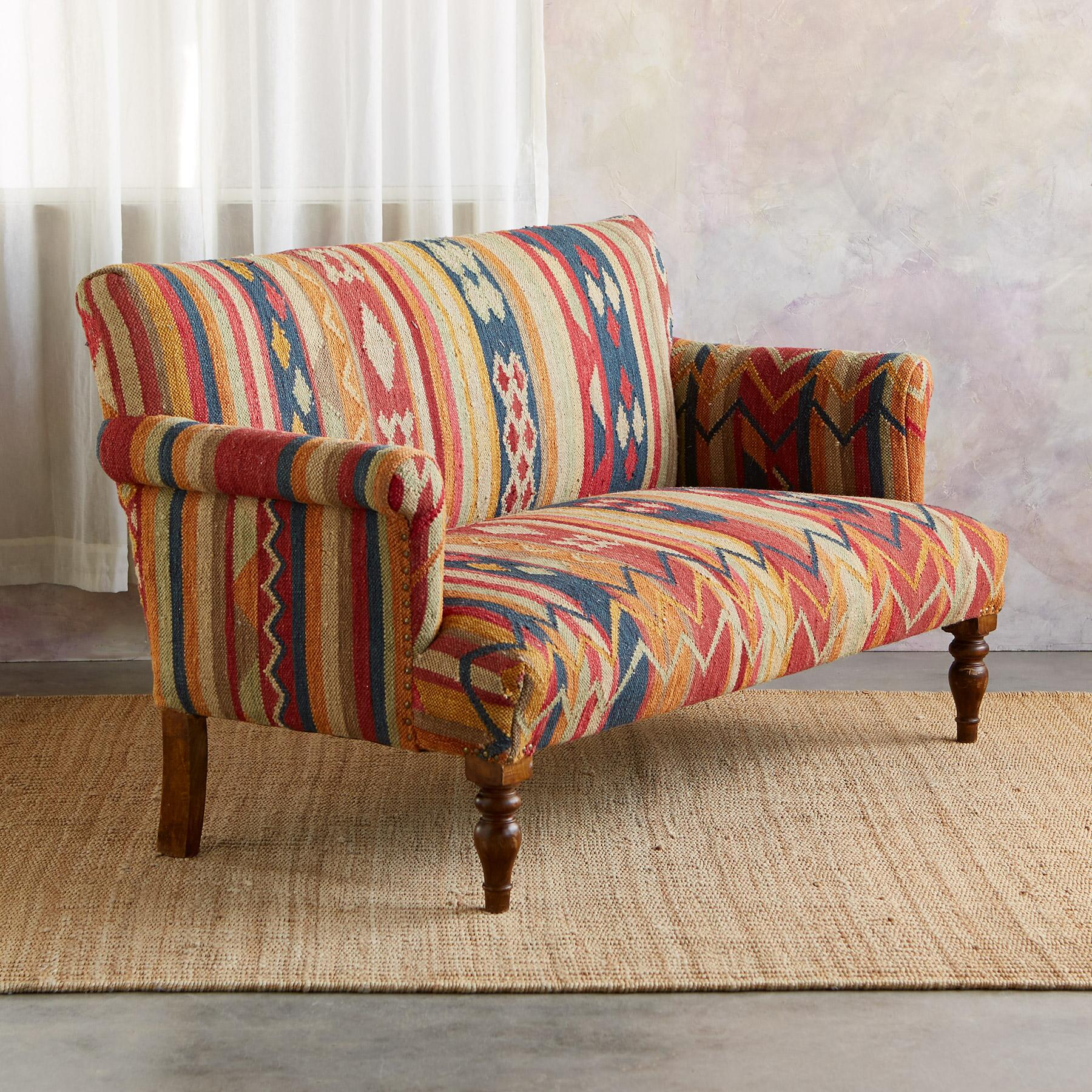 CABIN CREEK KILIM LOVESEAT: View 2